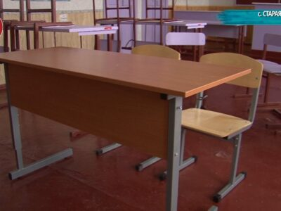 Новые парты и стулья для Староласпинской школы